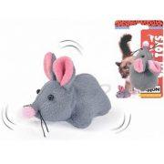 משחק לחתול רוטט ומרשרש בצורת עכבר עם חבל נמתח להפעלה