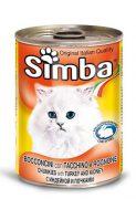 סימבה שימורים לחתולים - נתחי הודו 400 גרם