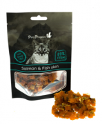 חטיפים לחתולים Pets Project סלמון ועור דג 50 גרם