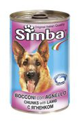 סימבה כלבים בטעם כבש 400 גרם