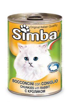 סימבה שימורים לחתולים – נתחי ארנב 400 גרם
