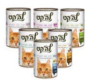 לה קט שימורי פטה לחתולים - מגוון טעמים 400 גרם LA CAT
