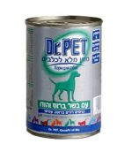 דר פט שימורים לכלבים בטעם ברווז והודו 415 גרם