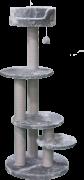 פטקס מתקן גירוד לחתולים פרווה אפורה PS190 גובה 129 ס