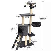 מתקן גירוד לחתולים גובה 138 ס
