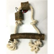 צעצוע לתוכי נדנדה משולשת מעץ טבעי