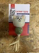 צעצוע קטניפ על מקל מטאטאבי בשילוב נוצה ובובה קטנה לחתולים