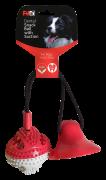 משחק דנטלי לכלב עשוי גומי עם וואקום כדור+פעמון 43 ס