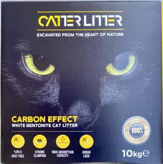"""חול מתגבש קטרליטר CATTER LITTER אפקט פחם 10 ק""""ג"""