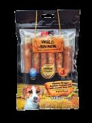 חטיף לכלב מקלות עור בקר בציפוי עוף וממולא בכבד 6 יחידות בחבילה PETEX