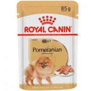 רויאל קנין לכלבים - מזון רטוב לכלב בוגר מגזע פומרניאן - עוף 85 גרם