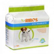 ריבוס פדים לכלבים ולאימון גורים לעשיית צרכים 60*60 ס''מ - 100 יחידות בחבילה
