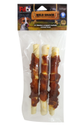 חטיף לכלב עצם מלופף בשר עוף 3 רולים באריזה - פטקס