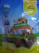האו ומיאו חטיפים טבעיים לכלבים וחתולים - גרונות עוף מיובשים 100 גרם