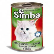 סימבה שימורים לחתולים - נתחי בקר 400 גרם