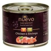 נואבו שימורי פטה לחתולים בוגרים - עוף ושרימפס 200 גרם Nuevo