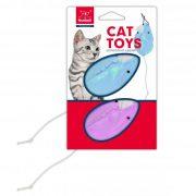 משחק לחתול זוג עכברים צבעוניים