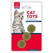 מארז 3 כדורי קטניפ לחתול