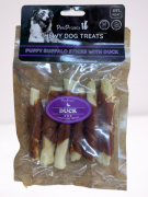 חטיף לכלב רול בקר מצופה בשר ברווז 6 יחידות במארז Pets Project